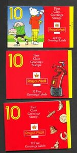 THREE BAR CODE BOOKLETS LESS FACE VALUE COMPLETE UM AS ISSUED POST FREE 1