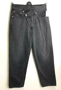 BNWT Agolde Criss Cross jeans black high rise denim straight leg jeans W 26 UK 8