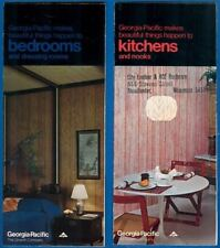2 Georgia-Pacific Wall Paneling Advertising Brochures, Kitchens And Bedrooms '74