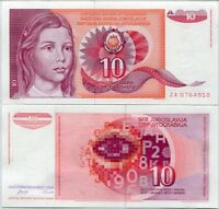 Yugoslavia 1,000 5,000 10,000 Dinara Years 1990-92 Uncirculated Banknote Set # 2
