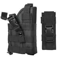 Black MOLLE Tactical Belt Holster + Mag Pouch Fits Hk 45 USP VP 9 40 P30L Pistol