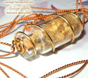 Schutz Amulett *Heilige Gabe* Weihrauch Gold Gott Talisman Natur Wicca  Neu