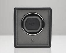 WOLF 455203 Black Pebble Finish 1.8 Cub Watch Winder with Lock-In Cuff