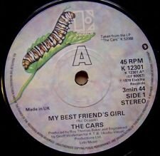 THE CARS my best friend´s girl / moving in stereo UK 45 ELEKTRA 1978