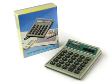 Wholesale Lots-Case of 100 Geneva Solar Powered Desk Calculators-Retail Boxes