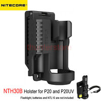 NITECORE NTH30B Holster for P20 P20UV Flashlight W/ Battery Bay 360° Rotatable
