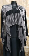 Black Apple Plue #7326 Ladies Open Jacket Top Size 18 NWOT Career Holiday Evenin