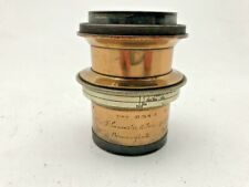 Lancaster and Sons of Birmingham brass plate camera lens