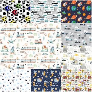 2x  FITTED SHEETS for cot bed 60x120 70x140 cover BOYS CARS STARS FARM TRAIN