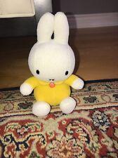 "SEKIGUCHI Miffy Bunny Rabbit Plush Toy Doll 7.5"" yellow White"