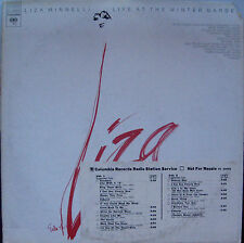 "Liza Minnelli ""Live At The Winter Garden"" Columbia  PC-32854 EX Vinyl Radio copy"