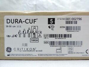 GE Critikon Dura-Cuf NIBP Thigh Blood Pressure Cuff 2796 Two Tube 38-50cm Box 5