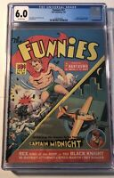 1st App CAPTAIN MIDNIGHT THE FUNNIES 57 CGC 6.0 Scarce 1941 A Comic Beauty DEll
