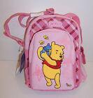 "Disney ""Fuzzy"" WINNIE the POOH Pink HANDBAG Purse BACKPACK Shoulder Tote BAG NEW"