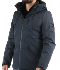 YES ZEE giaccone Giubbino J837/OA00 Blu L parka rich piumino giubbotto SCONTO40%