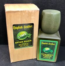 Vintage After Shave ENGLISH LEATHER Lime, 2 oz, Unused in box (NOS)
