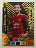 2020/21 PANINI Adrenalyn EPL Soccer Card - Bruno Fernandes Golden Baller Man U