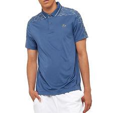 Lacoste Sport Mens Polo Shirt Novak Djokovic Short Sleeved Ribbed Collar Top