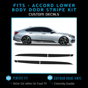 For 2018-2020 Honda Accord Lower Doors Overlay Stripe Accent Decal - Flat Matte