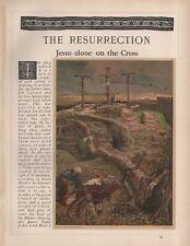 """Tissot Jesus CHROMO-LITHO PRINT - """"Jésus seul sur la croix"""" (1897)"""