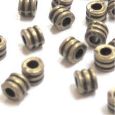 50 pièces ton bronze 4x3mm Alliage Espaceur Perles-a0559
