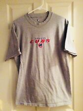 Chicago Cubs Gray Embroidered Logo T-Shirt MLB Size Medium