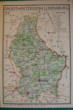 Old map Luxembourg 1939 kaart landkaart Luxemburg