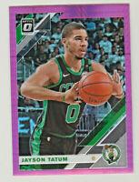2019-20 Panini Donruss Optic HYPER PINK PRIZM #82 JAYSON TATUM Boston Celtics