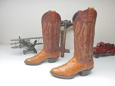 PANHANDLE SLIM COGNAC OSTRICH COUNTRY COWGIRL WESTERN DANCING BOOTS SIZE 5.5 B