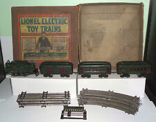 LIONEL OUTFIT NO.164 O PREWAR 154 REVERSING LOCO W/(1)602 MAIL&(2)PULLMAN CARS