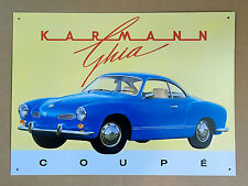 VW Karmann Ghia Coupe - Tin Metal Wall Sign
