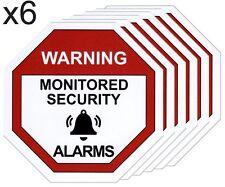 x6 Alarm Warning Sticker, Home Security Vinyl Decal, Burglar House Security Sign