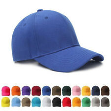 Men woman Plain Washed Cap Style Cotton Baseball Adjustable Blank Solid Hat