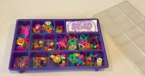 Vintage Lisa Frank Bead Mania Purple Tray Bead Set