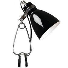Klemmleuchte Tischleuchte Tischlampe günstig Klemmspot Cyclone schwarz B-Ware