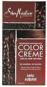 1 Box Shea Moisture Nourishing Rich Color Creme Dark Auburn Permanent Hair Dye