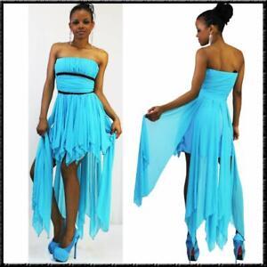 Sommer Kleid Brautjungfer Bandeaukleid 34 36 38 40 hellblau Dress SALE