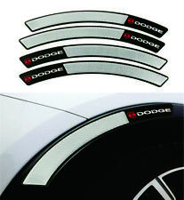 Dodge Carbon Fiber  Fender Arch Trim Sticker Protector Car Wheel Eyebrow Strip
