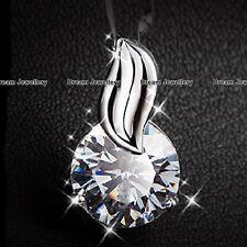 Collar Colgante Solitario Diamante Plateado Joyas De Mamá Regalos Para Ella Mujeres Navidad