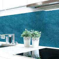 Küchenrückwand Wandstruktur Petrol Premium Hart-PVC 0,4 mm selbstklebend
