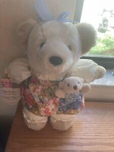 "Vintage Hallmark Plush Chrysantha-Mom Stuffed Teddy Bear Sweet Pea 12"""