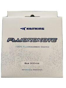 2 Pack! KastKing Fluorokote Fishing Line 300Yd 8LB Fluorocarbon Coated Line HOT