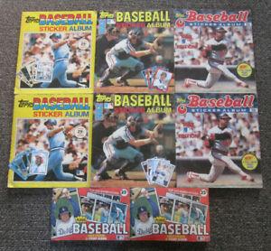 lot (8) TOPPS BASEBALL STICKER ALBUM 1981 1982 1983 Fleer Stamp Album Logo
