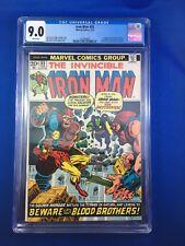 Iron Man #55 CGC 9.0 White Pages (Feb 1973, Marvel) 1st THANOS! 1st DRAX!