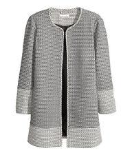 H&M Gemusterter Mantel Trenchcoat Jacke Gr.40 oder 42 naturweiß Neu Kleid Blazer