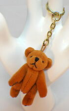 "Russ Brown Jointed Teddy Bear Plush Key Chain 4.75"" approx"