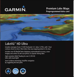 Garmin U.S. LakeVu HD Ultra Freshwater Fishing Map Inland Water 010-C1110-00
