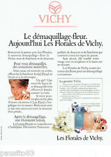 PUBLICITE ADVERTISING 076  1984  Les Florales de Vichy  démaquillant-fleur