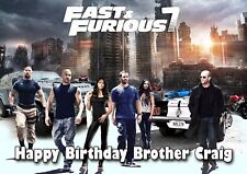 Personalized, Fast & Furious 7 Birthday Card, Free p&p