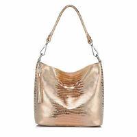 Women Handbag Cow Genuine Leather Crossbody Shoulder Bag Female Animal Lizard